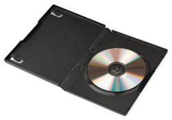 Offenes DVD Case